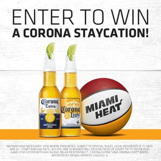 Corona and Miami Heat Activation