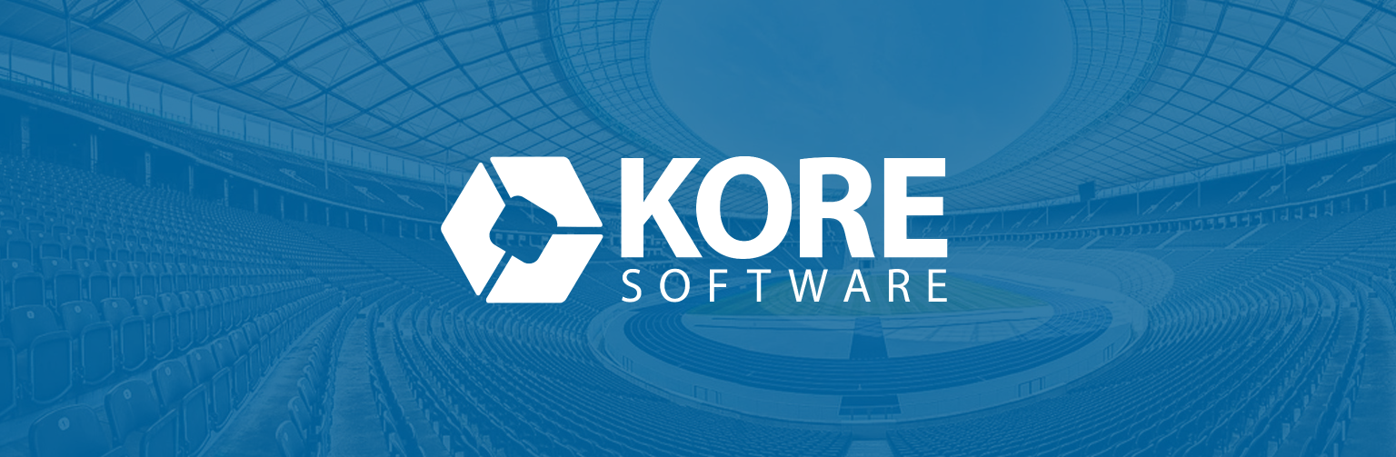 KORE blue and white logo